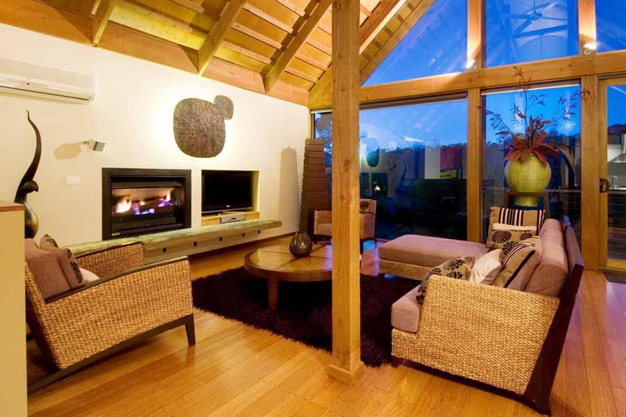 Romantic accommodation Daylesford Hepburn Spa Pavilion Horizon - Lounge