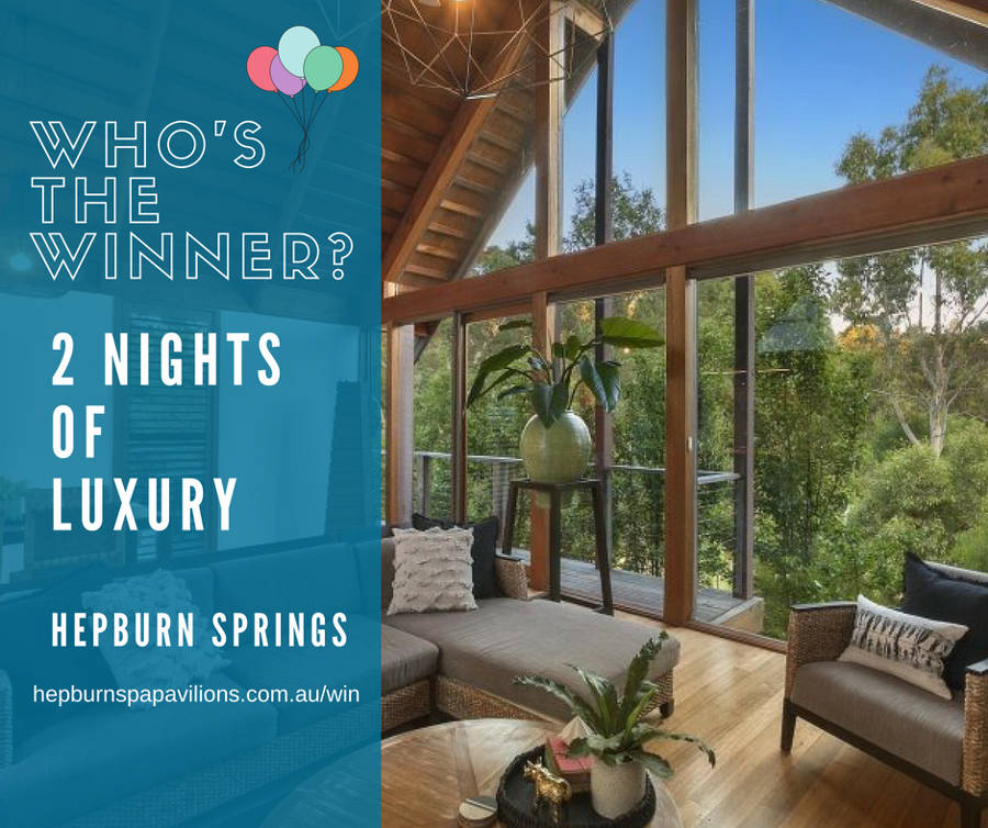 Hepburn springs luxury accommodation comp winner